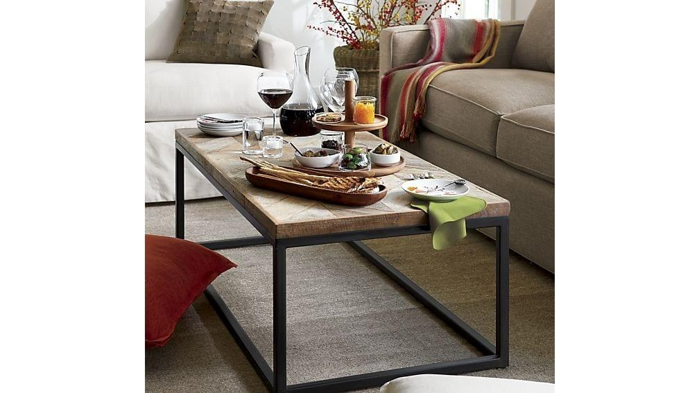 Dixon Coffee Table | Crate And Barrel Inside Crate And Barrel Sofa Tables (Image 8 of 20)