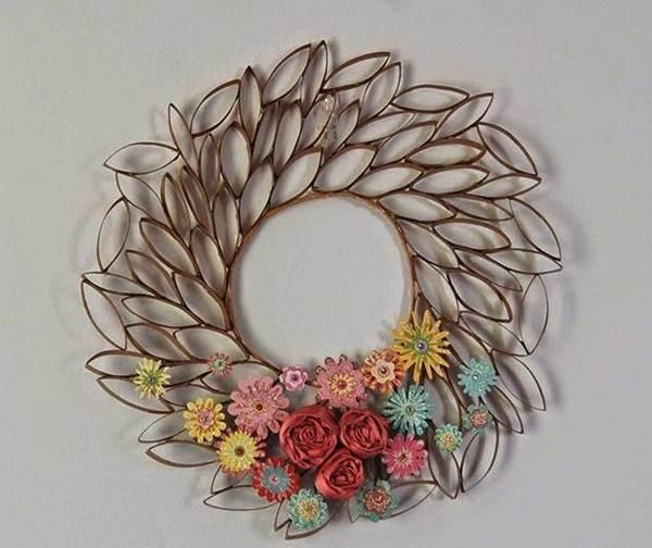 Diy 3D Paper Roll Flower Wall Art Regarding 3D Paper Wall Art (Image 8 of 20)