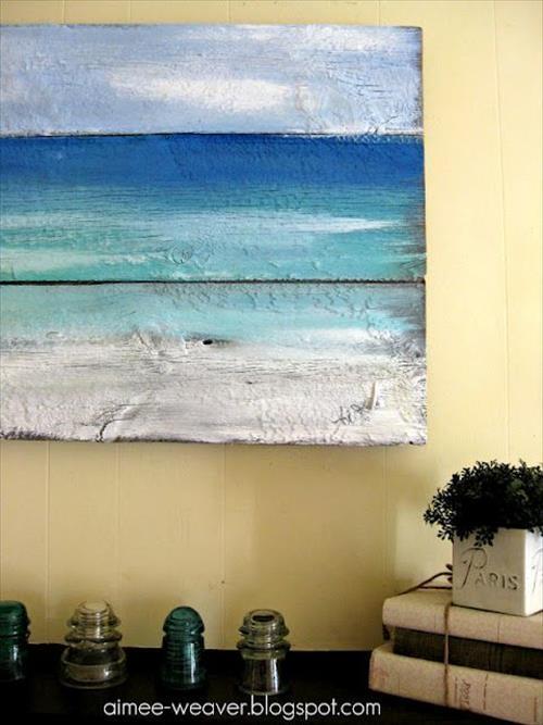 Diy Beach Wall Art Decorations Ideas | Diy Craft Projects Inside Beach Wall Art (Image 15 of 20)