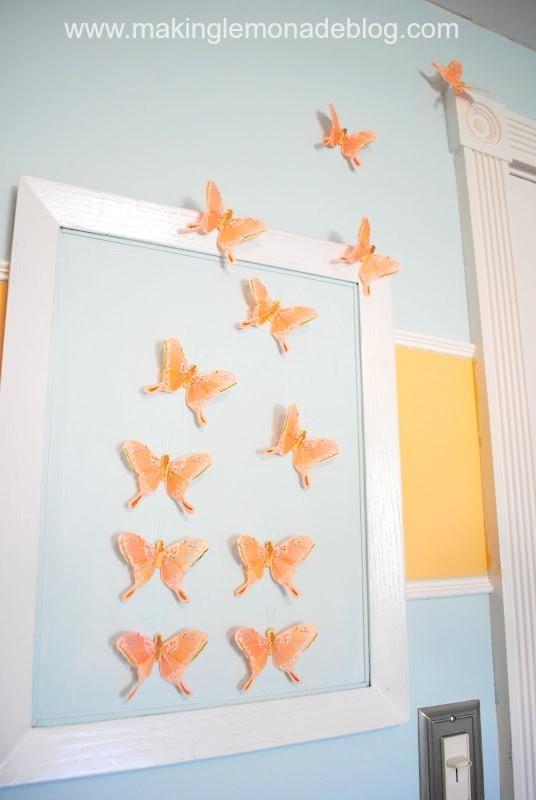Diy Butterfly Wall Art (Nursery Decor) | Making Lemonade With Regard To Nursery Wall Art (View 18 of 20)