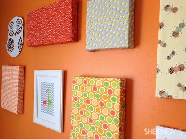 Diy Canvas Artwork In 8 Easy Steps Intended For Fabric Canvas Wall Art (View 15 of 20)