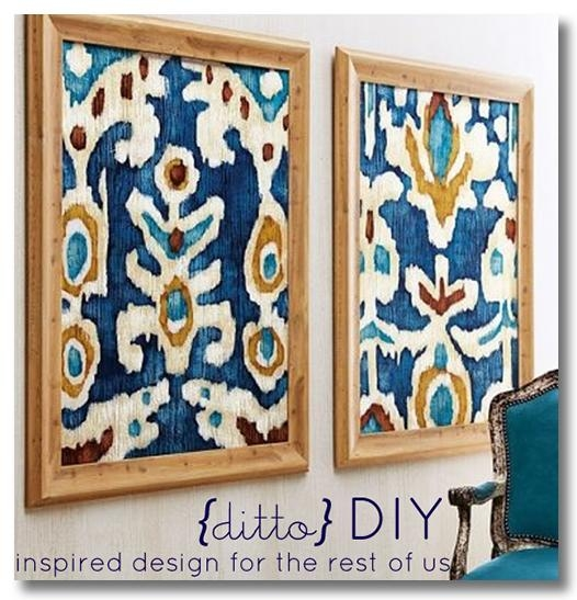Diy Cheap Wall Decor Regarding Framed Fabric Wall Art (Image 11 of 20)