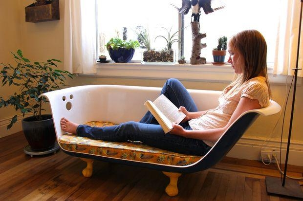 Diy Clawfoot Bathtub Couch: 34 Steps (With Pictures) Regarding Clawfoot Tub Sofas (Image 13 of 20)