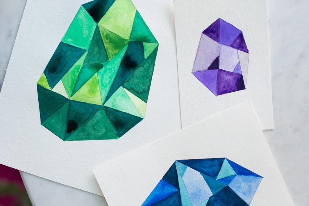Diy Faceted Gemstone Wall Art — Wandeleur With Regard To Gemstone Wall Art (Image 10 of 20)