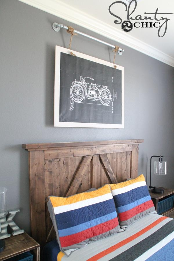 Diy Industrial Wall Art With Free Printable – Shanty 2 Chic Throughout Industrial Wall Art (Image 8 of 20)