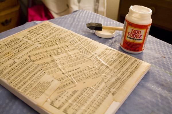 Diy Sheet Music Song Lyric Wall Art (Contributor Post) In Music Lyrics Wall Art (Image 10 of 20)