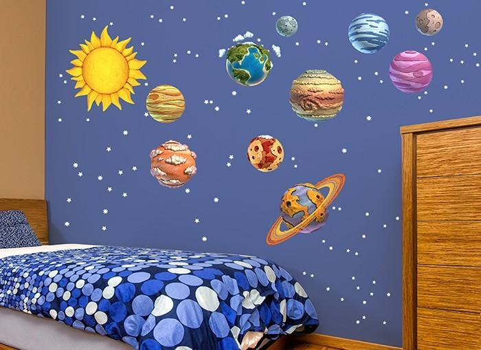 Diy Solar System Wall Decals For Solar System Wall Art (Image 13 of 20)