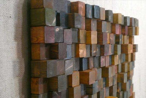 Diy – Wood Block Wall Art Easy Home Crafts | Diy Wall Art With Regard To Wall Art On Wood (View 12 of 20)