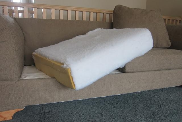 Do It Yourself Divas: Diy Strip Fabric From A Couch And Reupholster It For Reupholster Sofas Cushions (Image 13 of 20)