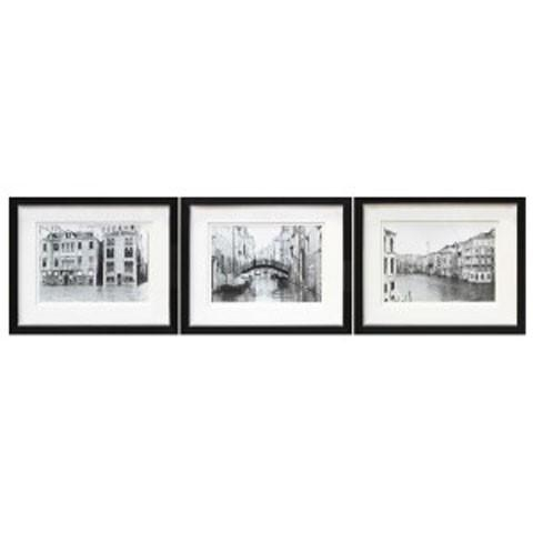 Doga – Black/white – Wall Art Set (3/cn) | A8000193 | Wall Art Regarding Black And White Wall Art Sets (Image 8 of 20)