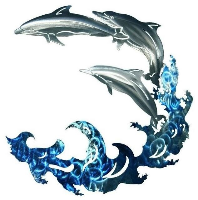 Featured Image of Dolphin Metal Wall Art