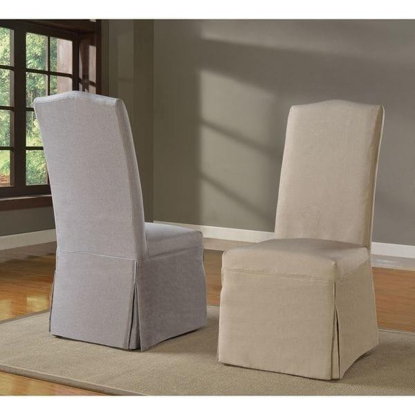 Domusindo Slipcovered Camelback Dining Chair (Set Of 2) – Free For Camelback Slipcovers (View 14 of 20)