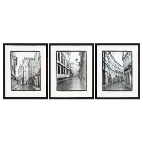 Dorcas – Black/white – Wall Art Set (3/cn) | A8000194 | Wall Art Inside Black And White Wall Art Sets (Image 9 of 20)