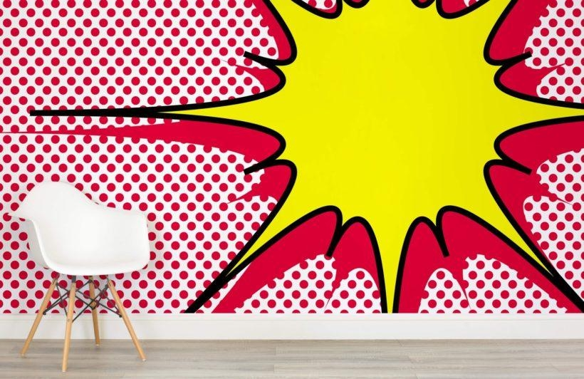 Dotted Explosion Pop Art Wall Mural | Muralswallpaper.co (View 17 of 20)