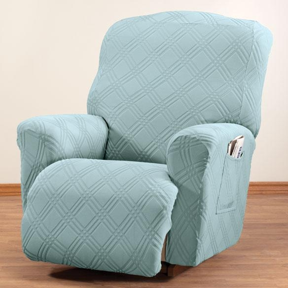 Double Diamond Stretch Recliner Cover – Chair Cover – Walter Drake In Stretch Covers For Recliners (View 2 of 20)
