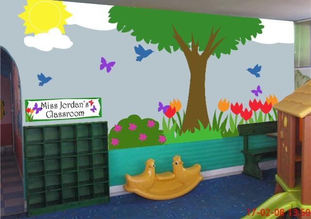Download Classroom Wall Decoration Ideas | Homecrack Intended For Preschool Classroom Wall Decals (Image 14 of 20)