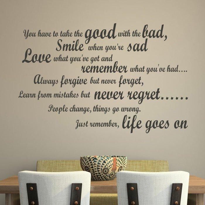 Download Life Quote Wall Stickers | Homean Quotes Intended For Inspirational Sayings Wall Art (View 16 of 20)