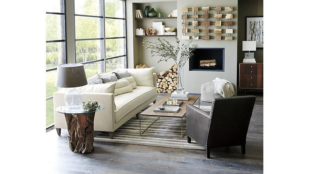 Driftwood Round Side Table | Crate And Barrel With Crate And Barrel Sofa Tables (Image 11 of 20)