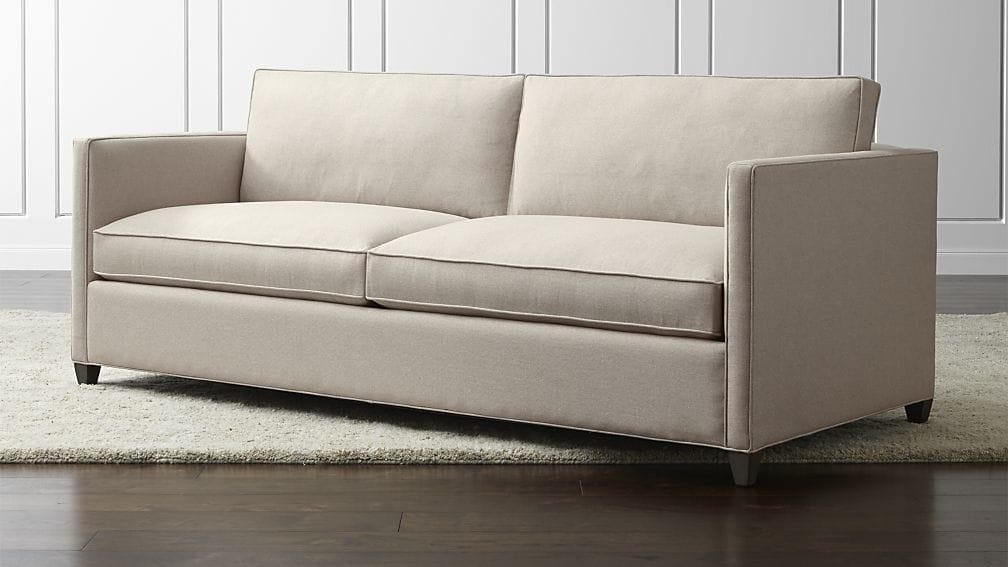 Dryden Queen Sleeper Sofa | Crate And Barrel Pertaining To Crate And Barrel Sleeper Sofas (Image 6 of 20)