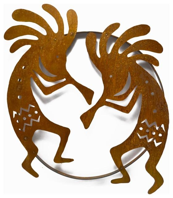 Dueling Kokopellis Metal Wall Sculpture – Southwestern – Metal In Southwest Metal Wall Art (View 11 of 20)