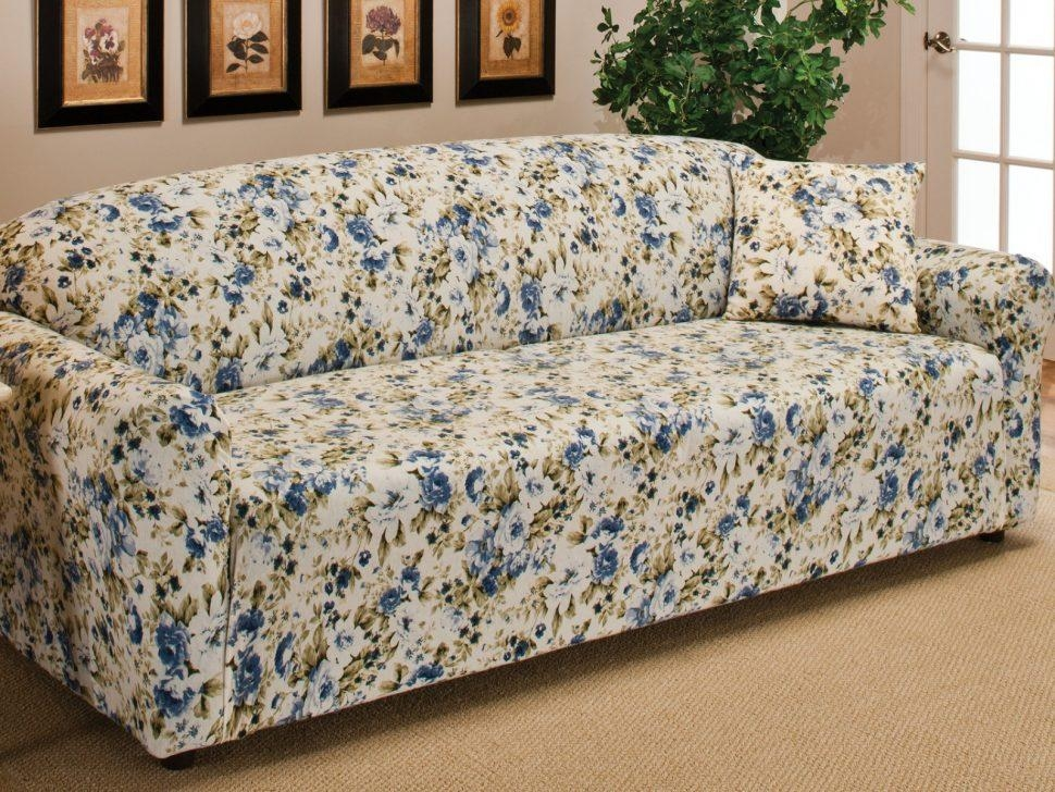 ▻ Sofa : 25 Simple Sofas With Blue Green Floral Slipcovers Pertaining To Floral Slipcovers (Image 1 of 20)