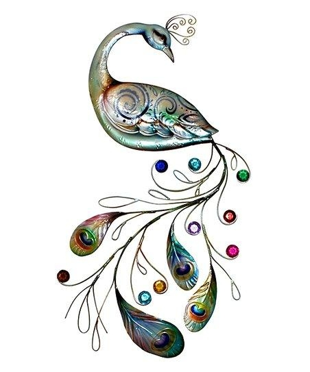 Eangee Home Design Jeweled Tail Peacock Wall Art | Zulily With Regard To Jeweled Peacock Wall Art (Image 11 of 20)
