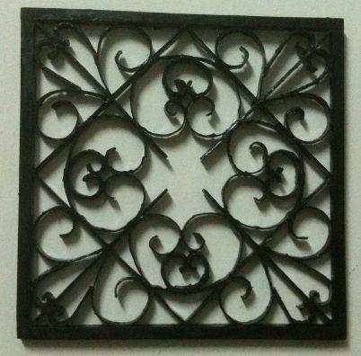 Easy Diy Iron Wall Art!: 6 Steps (With Pictures) Inside Faux Wrought Iron Wall Art (Image 8 of 20)