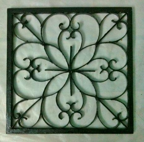 Easy Diy Iron Wall Art!: 6 Steps (With Pictures) Inside Faux Wrought Iron Wall Art (Image 7 of 20)
