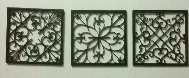 Easy Diy Iron Wall Art!: 6 Steps (With Pictures) With Faux Wrought Iron Wall Art (Image 10 of 20)