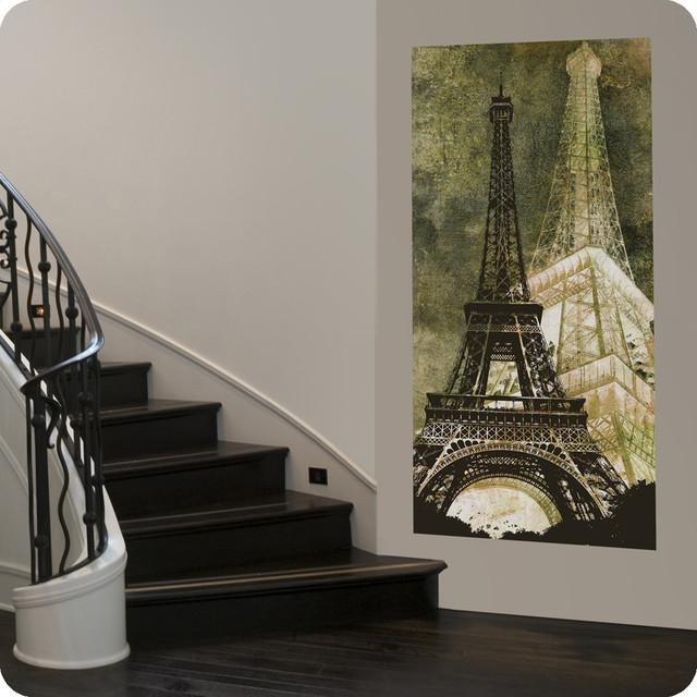 Eiffel Tower Canvas Wall Art – Contemporary – Entry – San For Eiffel Tower Wall Hanging Art (Image 5 of 20)