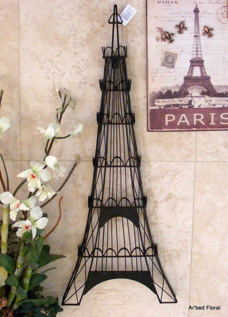 Eiffel Tower, Iron Wall Art Jewelry Holder Within Metal Eiffel Tower Wall Art (Image 15 of 20)