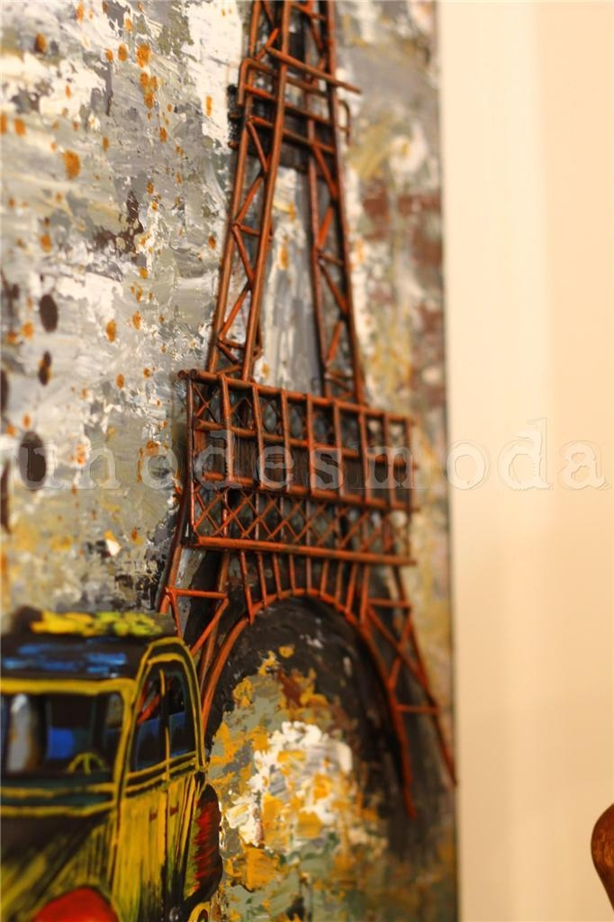Eiffel Tower Metal Wall Art French Paris Rustic Vintage Industrial With Metal Eiffel Tower Wall Art (Image 11 of 20)
