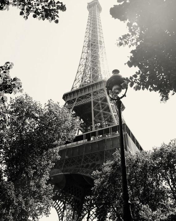 Eiffel Tower Photograph In Black And White Paris Photography Pertaining To Black And White Paris Wall Art (Image 11 of 20)