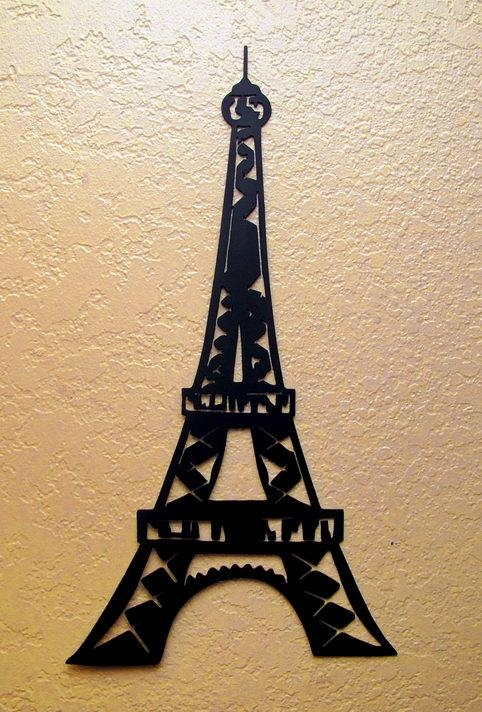 Eiffel Tower Wall Art For Eiffel Tower Metal Wall Art (Image 12 of 20)