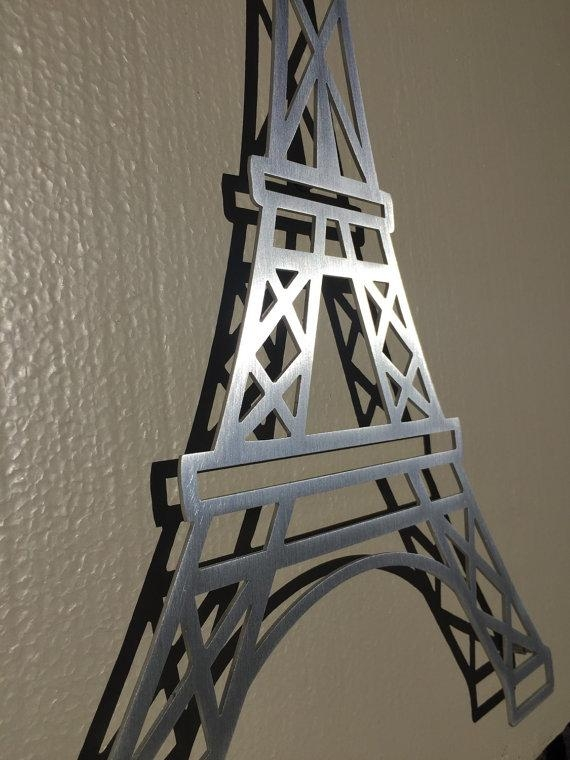 Eiffel Tower Wall Art Unique Metal Wall Art On Contemporary Wall For Eiffel Tower Metal Wall Art (Image 14 of 20)