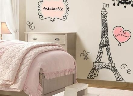 Eiffel Tower Wall Decals Paris Theme Decorations Wall Art Decor With Paris Theme Wall Art (Image 17 of 20)