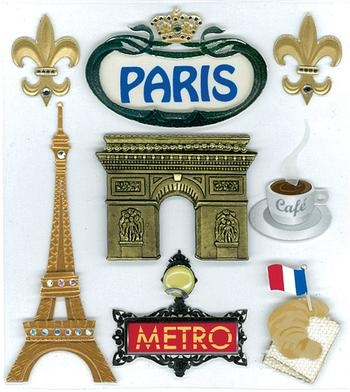 Ek Tools Paris Dimensional Scrapbooking Stickers 50 20447 Throughout Paris Themed Stickers (View 17 of 20)