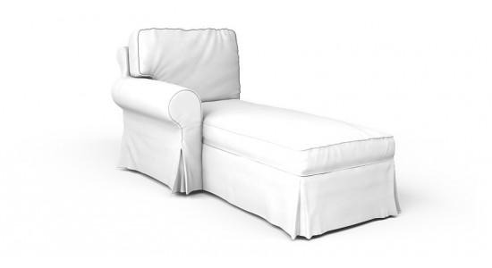 Ektorp Chaise Lounge Left Cover – Beautiful Custom Slipcovers Pertaining To Slipcovers For Chaise Lounge Sofas (Image 9 of 20)