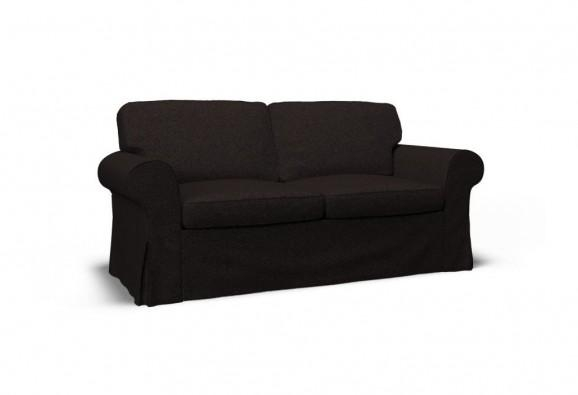 Ektorp Two Seat Sofa Cover – Event Blackcovercouch For Black Sofa Slipcovers (Image 6 of 20)