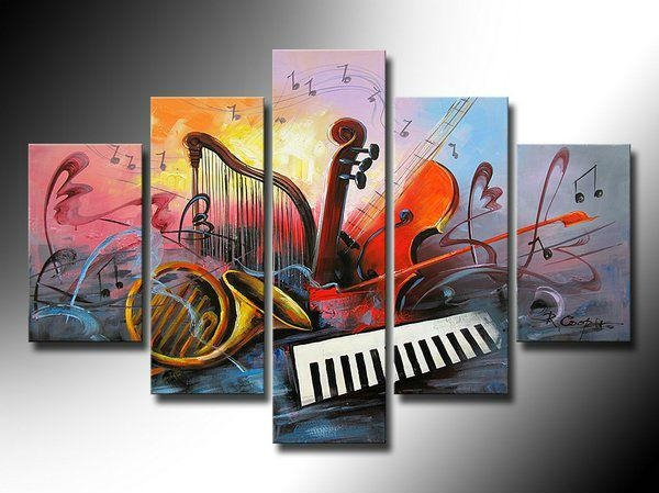 Electronic Organ Painting, Abstract Painting, Violin, Saxophone Throughout Electronic Wall Art (Image 12 of 20)