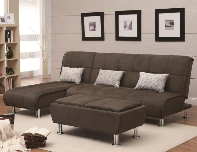 Elegant Microfiber Sectional Sleeper Sofa Brown Microfiber For Microfiber Sectional Sofas (View 19 of 20)