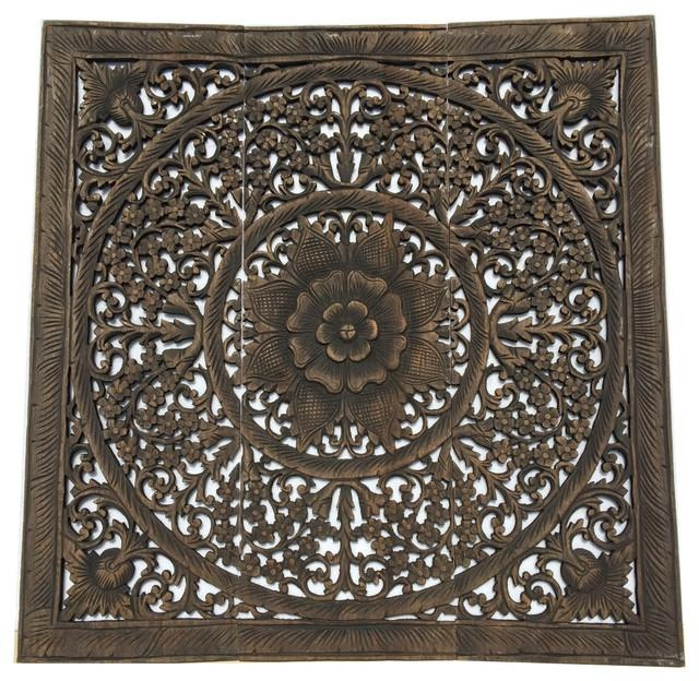 Elegant Wood Carved Wall Panelswood Carved Floral Wall Art Bali With Wood Carved Wall Art Panels (View 12 of 20)
