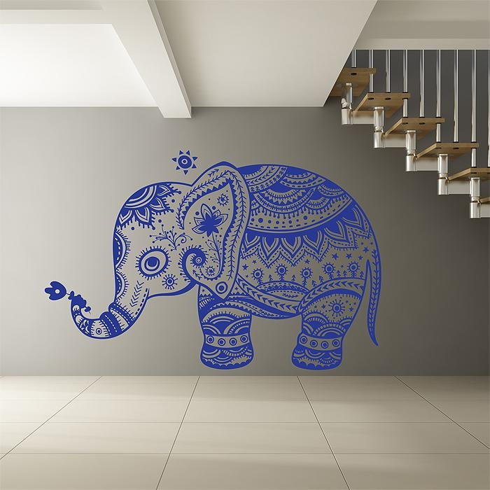 Elephant Tattoo Vinyl Wall Art Decal Inside Tattoo Wall Art (View 16 of 20)