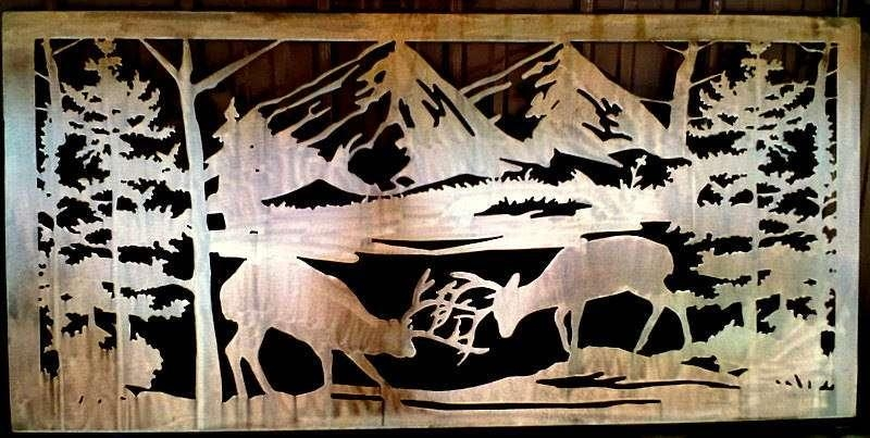Elk Fight : Signtorch, Turning Images Into Vector Cut Paths (View 19 of 20)