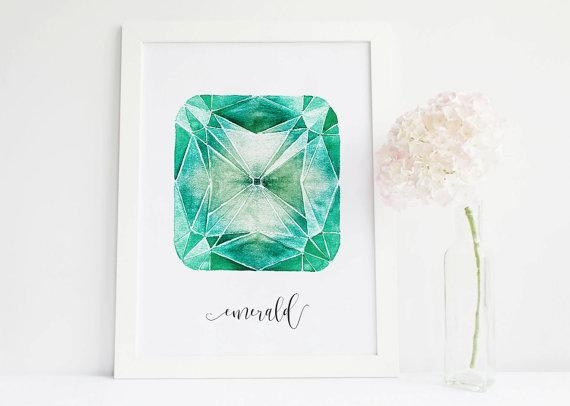 Emerald Crystal Emerald Stone Art Gemstone Decor Crystals And Inside Gemstone Wall Art (View 5 of 20)
