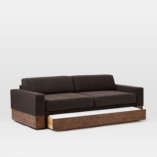 Emery Sofa + Twin Daybed W/ Trundle | West Elm With Sofas With Trundle (Image 8 of 20)