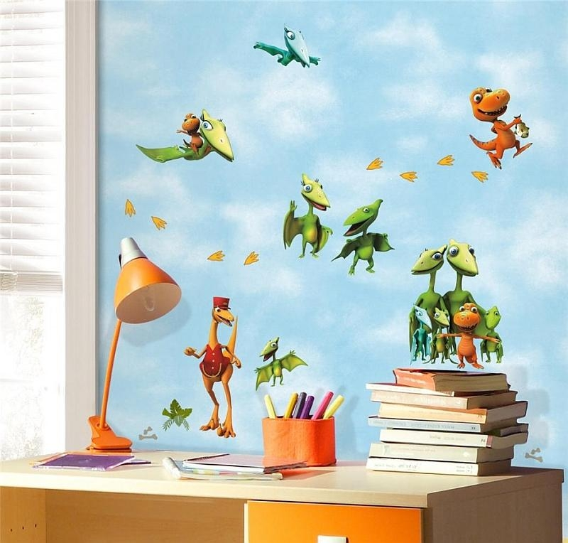 Enliven Your Kids' Bedroom With Dinosaur Themed Wall Art And With Dinosaur Wall Art For Kids (View 12 of 20)