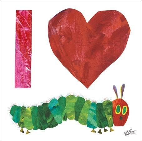 Eric Carle's I Heart Very Hungry Caterpillar Canvas Wall Art Throughout Very Hungry Caterpillar Wall Art (Image 12 of 20)