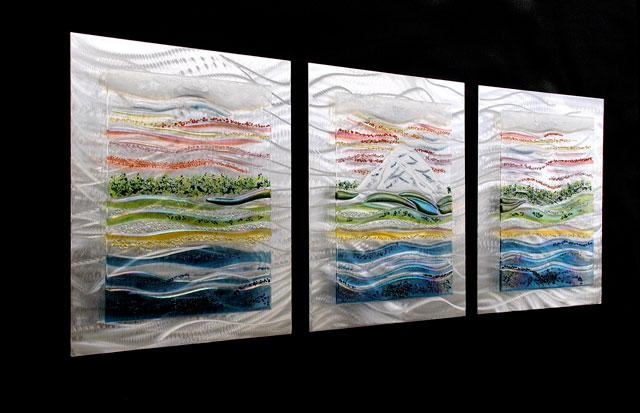 Evidence Based Design Fused Glass & Metal Wall Art, Glass Wall Art In Commercial Wall Art (Image 10 of 20)