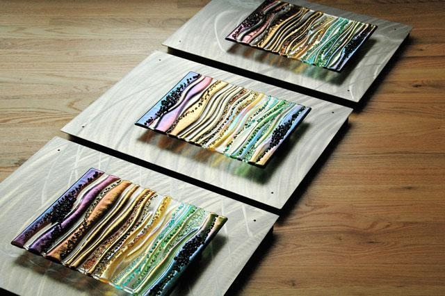 Evidence Based Design Fused Glass & Metal Wall Art, Glass Wall Art With Regard To Fused Glass Wall Art Panels (Image 12 of 20)
